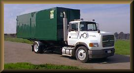 Picture of Storage Container being Delivered
